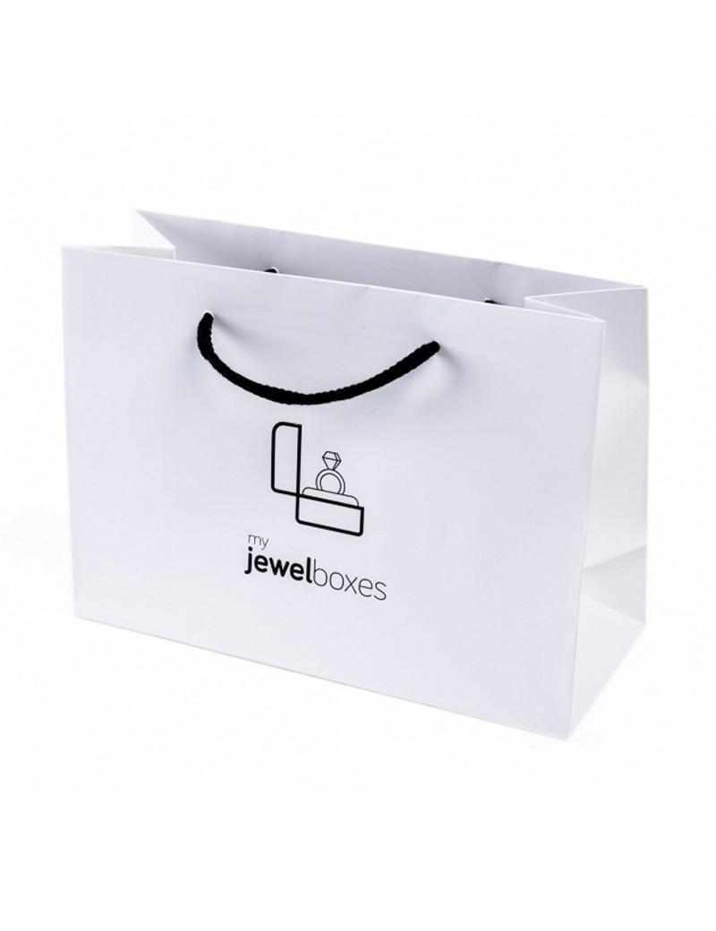 Bolsa de papel mate para joyeria bisuteria relojeria y joyas BPM250