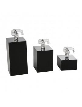 Set de 3 expositores de plastico para anillos