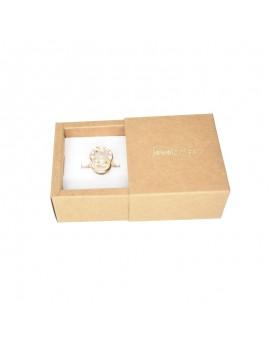Caja de carton kraft para anillo de joyeria KEN1