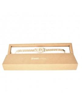 Caja de cartón kraft para pulsera de joyeria o bisuteria