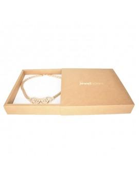 Caja de carton kraft para collar o conjunto de joyeria y bisuteria