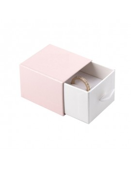Caja de carton para joyas con tirador. Cajoncito para anillo de joyeria y Bisuteria