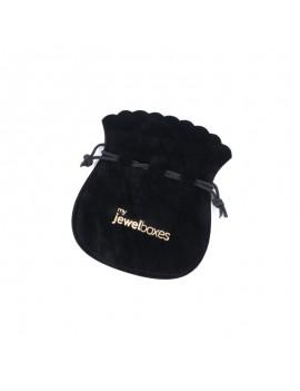 Bolsa Antelina para joyas con   Cordón personalizada BAN11
