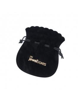Bolsa antelina para joyas personalizada con cordón BAN12