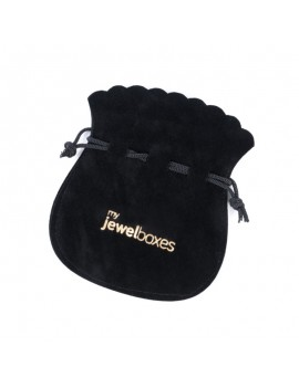 Bolsa antelina para joyas personalizada con cordón BAN13