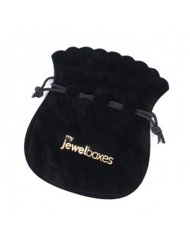 Bolsa antelina para joyería personalizada con cierre de cordón BAN14