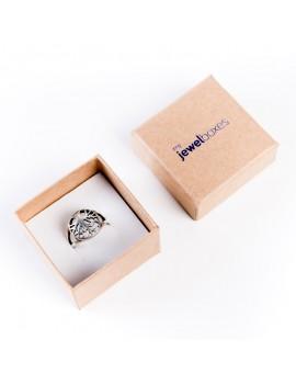 Caja de carton kraft para anillo DAK2