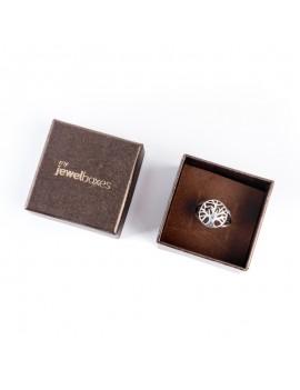 Caja de carton perlado para anillo DAL2