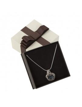 Caja de carton con lazo decoratico para colgante LOU5