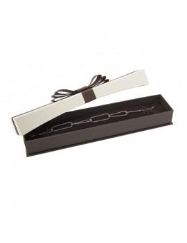 Caja de carton con lazo decorativo para pulsera LOU6
