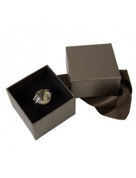 Caja de carton con lazo para anillo o pendientes NEW1