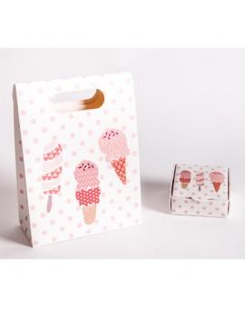Bolsa + Caja carton multiusos para joyeria infantil y de bebes CBSCH1
