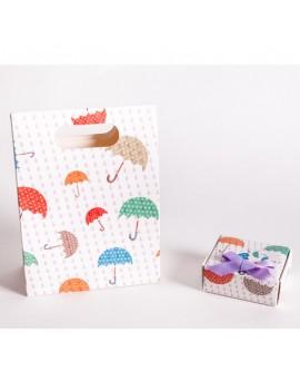 Bolsa + Caja carton multiusos para joyeria infantil y de bebes CBSCH3