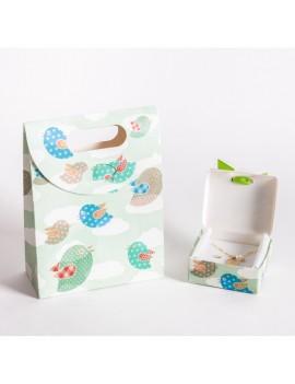 Bolsa + Caja carton multiusos para joyeria infantil y de bebes CBSCH4