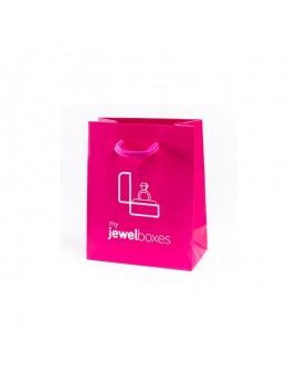 Bolsa de papel mate para joyeria bisuteria relojeria y joyas BPM120