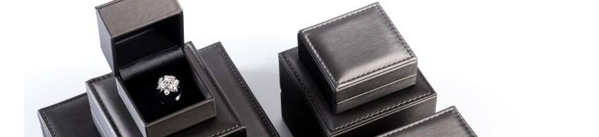 Estuches forrados en imitacion piel para joyeria y relojeria